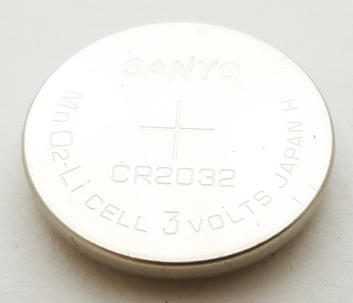 CR2032 3V Lithium Coin Cell Battery Sanyo