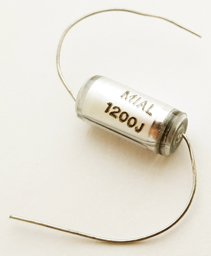 1200pF 630V 5% Polystyrene Capacitor Axial