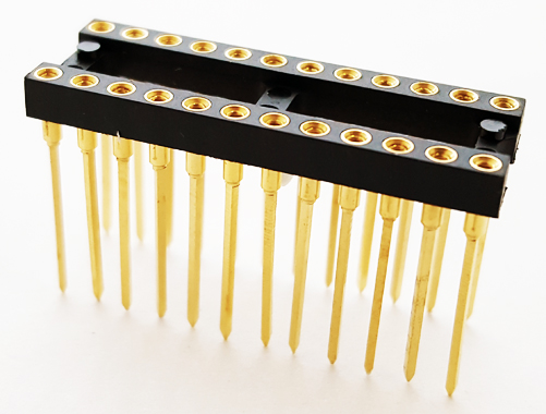 24 Pin Wire Wrap Machine Gold Plate IC Sockets Mill-Max
