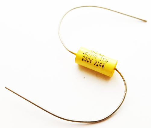 0.022uF 0.022 uF 250V 5% Axial Polyester Film Capacitor Mallory 150