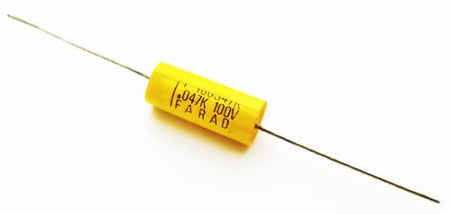 0.047uF 0.047 uF 100V Axial Polyester Film Capacitor Farad T100S47K