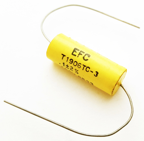 0.1uF .1 uF 100V 2% Axial Polyester Film Capacitor Vintage EFC T1906TC-3