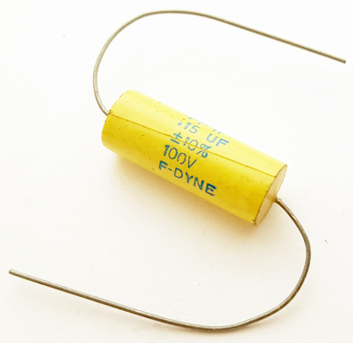 0.15uF .15 uF 100V 10% Axial Film Capacitor Vintage F-Dyne PP11