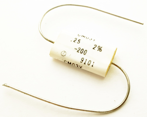0.25uF .25 uF 200V 2% Axial Polyester Film Capacitor Wesco CM03Y