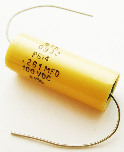 0.261uF .261 uF 100V 1% Axial Polyester Film Capacitor Vintage STK PS14