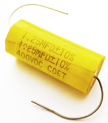 1.25uF 1.25 uF 400V 10% Axial Polyester Film Capacitor CDE WMF4W1P25K
