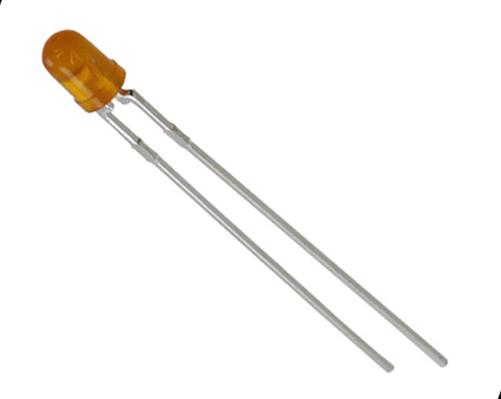Yellow 3mm T1 LED Lamp HLMP-1401-E00DD