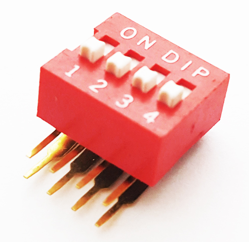 4 Position Vertical Mount Dip Switch