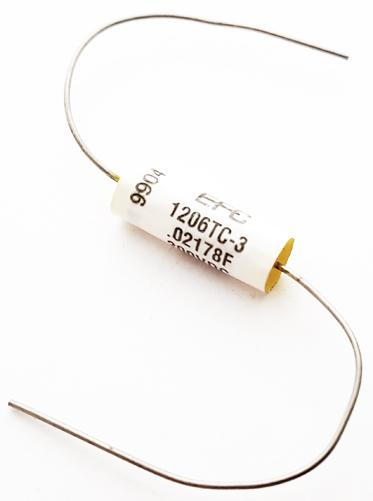 0.022uF 200V 1% Polypropylene Film Capacitor Vintage EFC/Wesco 1206TC-3-.022-2-1