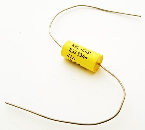 0.33uF 100V 5% Axial Polyester Film Capacitor Rel-Cap E3T334-J1A