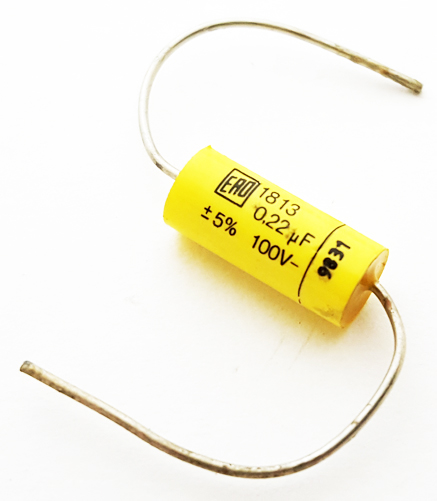 0.22uF 100V 5% Axial Polyester Film Capacitor ERO Roederstein 1813