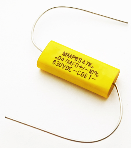 0.047uF 630V 10% Axial Polyester Film Capacitor CDE MMP6S47K