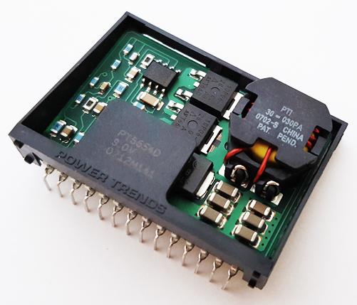 PT6654D 9V 5A Adjustable Step-Down ISR DC-DC Converter Power Trends