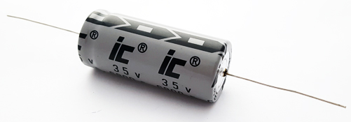 6800uF 35V Axial Electrolytic Capacitor Illinois Capacitor 688TTA035M
