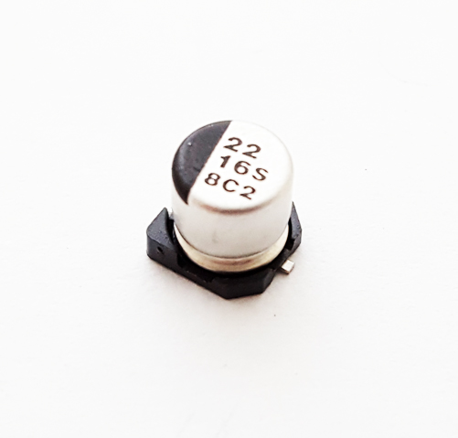 22uF 16V 20% Surface Mount Electrolytic Capacitor NIC NACE220M16V5X5.5TR13