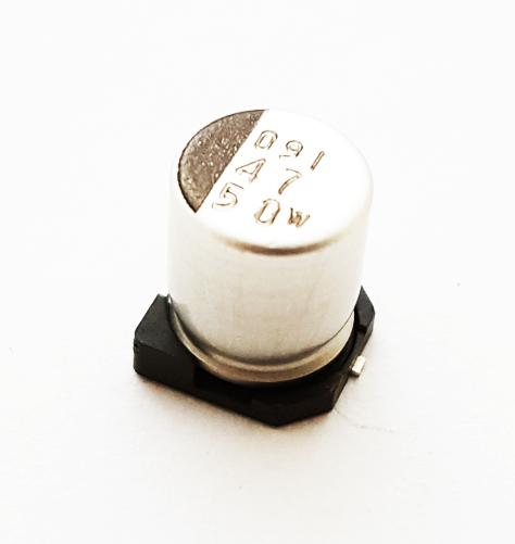 47.0uF 50V 20% Surface Mount Electrolytic Capacitor NIC NACEW470M50V6.X8TR13