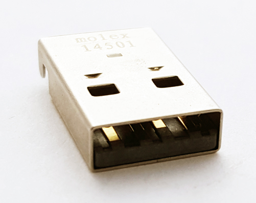 0480372200 4 Position USB A Connector SMT RA Molex