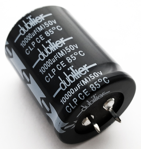 10000uF 50V Snap In Aluminum Electrolytic Capacitor Dubilier CLP10000DF50