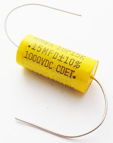 0.15uF 1000V 10% Metallized Polyester Film Capacitor CDE MMWA10P15K
