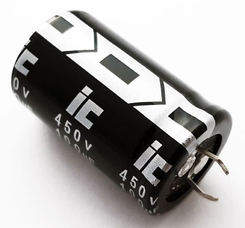 100uF 450V Snap In Electrolytic Capacitor Illinois Capacitor 107LBA450M2BE