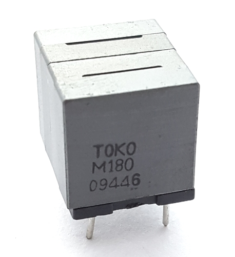 10.0uH x 2  0.013 Ohm Fixed Inductor Dual Element Toko 60001WL-M180X