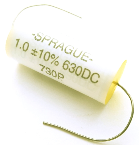 1.0uF 630V 10% Axial Polypropylene Capacitor Sprague 730P105X9630