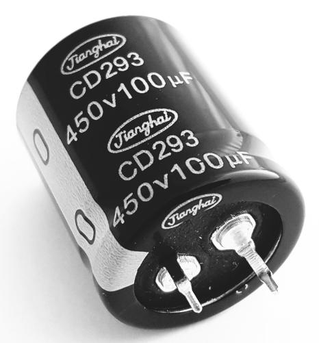 100uF 450V 20% Snap In Electrolytic Capacitor Jianghai ECS2WBZ101MT6P22530