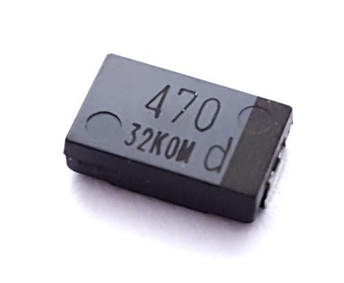 470uF 2.0V 20% SMT Polymer Aluminum Electrolytic Capacitor  Panasonic EEF-SX0D471E4