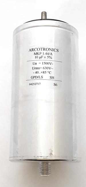 10uF 1500V Aluminum Case Capacitor with Hardware Arcotronics MKP 1.44/A
