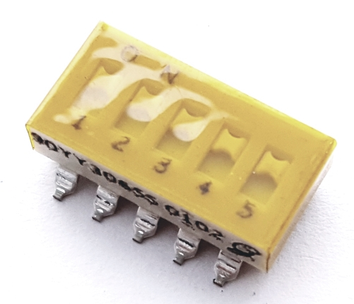 5 Position Surface Mount DIP Switch Grayhill 90HBW05RT