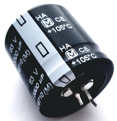 3300uF 63V Snap In Radial Electrolytic Capacitor Panasonic ECOS1JA332DA