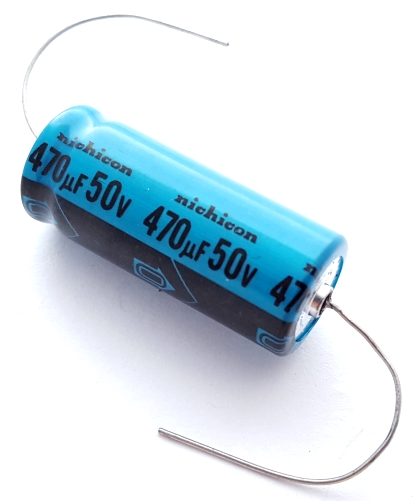 470uF 50V Axial Electrolytic Capacitor Nichicon TPC1H471MCH