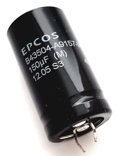 150uF 400V Radial Snap In Electrolytic Capacitor Epcos B43504A9157M