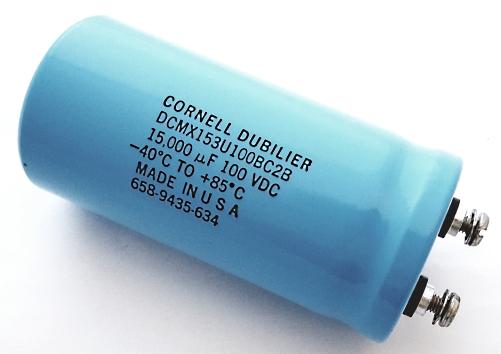 15000uF 100V Computer Grade Capacitor CDE DCMX153U100BC2B
