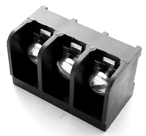 3 Position 25A 300V Terminal Block Augat/Thomas & Betts 6PCV-03-001