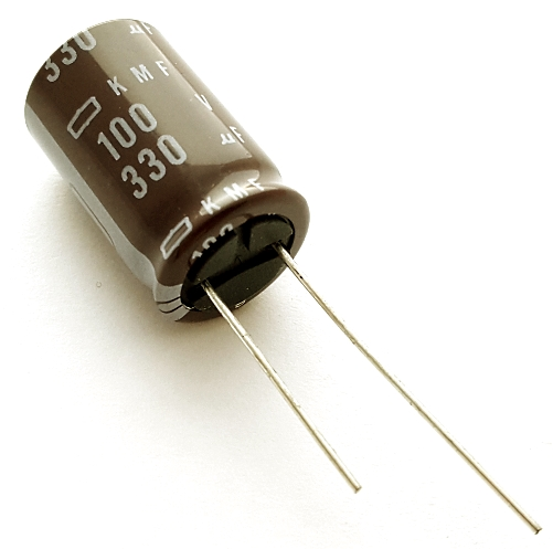 330uF 100V Radial Electrolytic Capacitor Nichicon UPJ2A331MHD6