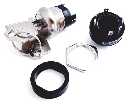 Key Lock Switch DPDT 12A 125 VAC C&K H201132F205NQ