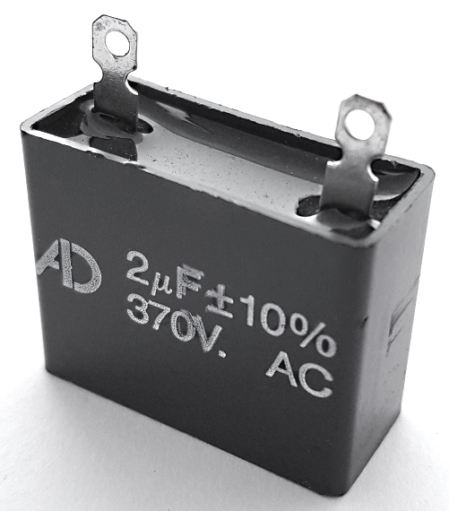 2uF 370VAC Motor Run Capacitor Metallized Polyester Film ADM370D205K