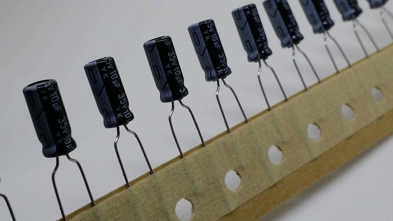 10uF 35V Radial Electrolytic Capacitor Rubycon YK Series
