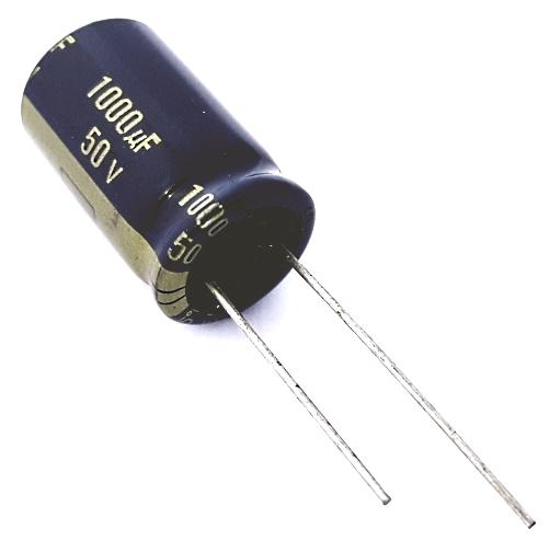 2 Pieces Electrolytic Capacitors Panasonic FC Series 1000uF 50V Radial