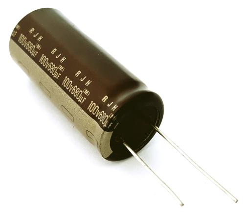 8X UVZ2D100MPD Capacitor 5mm NIC electrolytic THT 10uF 200VDC Ø10x12.5mm Pitch