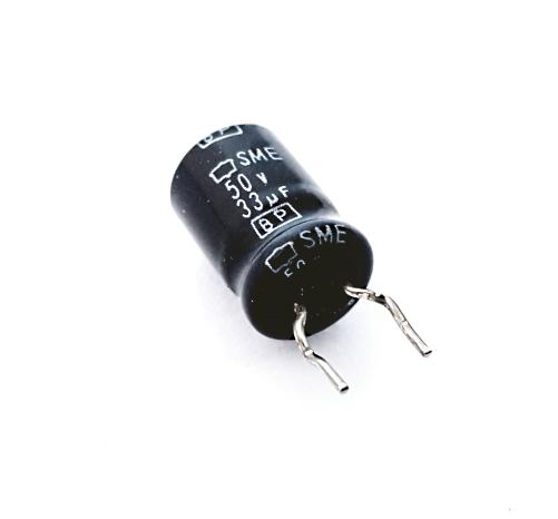 33uF 50V Non Polar Radial Electrolytic Capacitor United Chemi Con SMEBP50VB33RM