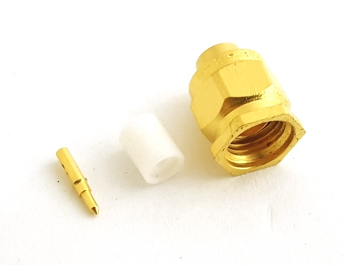 84449SSG / 2001-5397-02 SMA Cable Plug Connector Amphenol
