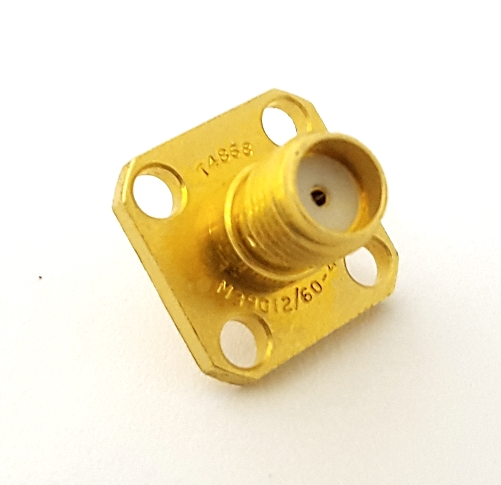 M39012/60-4001 SMA Panel Mount RF Receptacle Connector MIL Amphenol