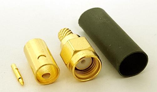 R125076590 SMA Straight Plug RF Connector 50 Ohm Radiall