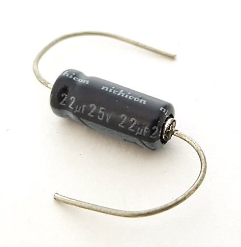 22uF 22 uF 25V Axial Electrolytic Capacitor Miniature Nichicon 22M25V