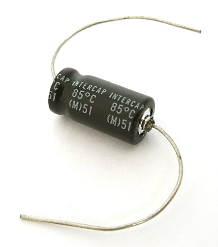 33uF 33 uF 50V Axial Electrolytic Capacitor Intercap