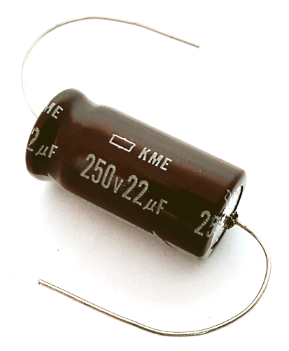 22uF 250V Axial Electrolytic Capacitor United Chemi-Con KME250T22RM