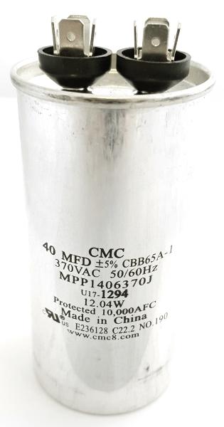 40uF 370VAC Motor Start-Run Capacitor CMC U17-1294 MPP1406370J