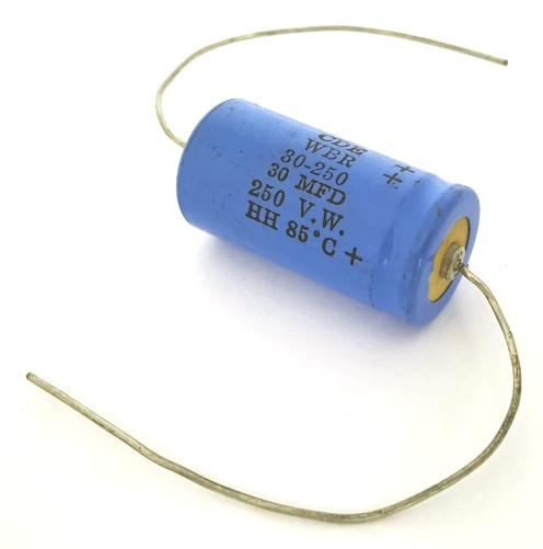 30uF 30 uF 250V Axial Electrolytic Capacitors CDE WBR30-250